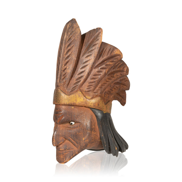 Indian Chief Carved Pipe