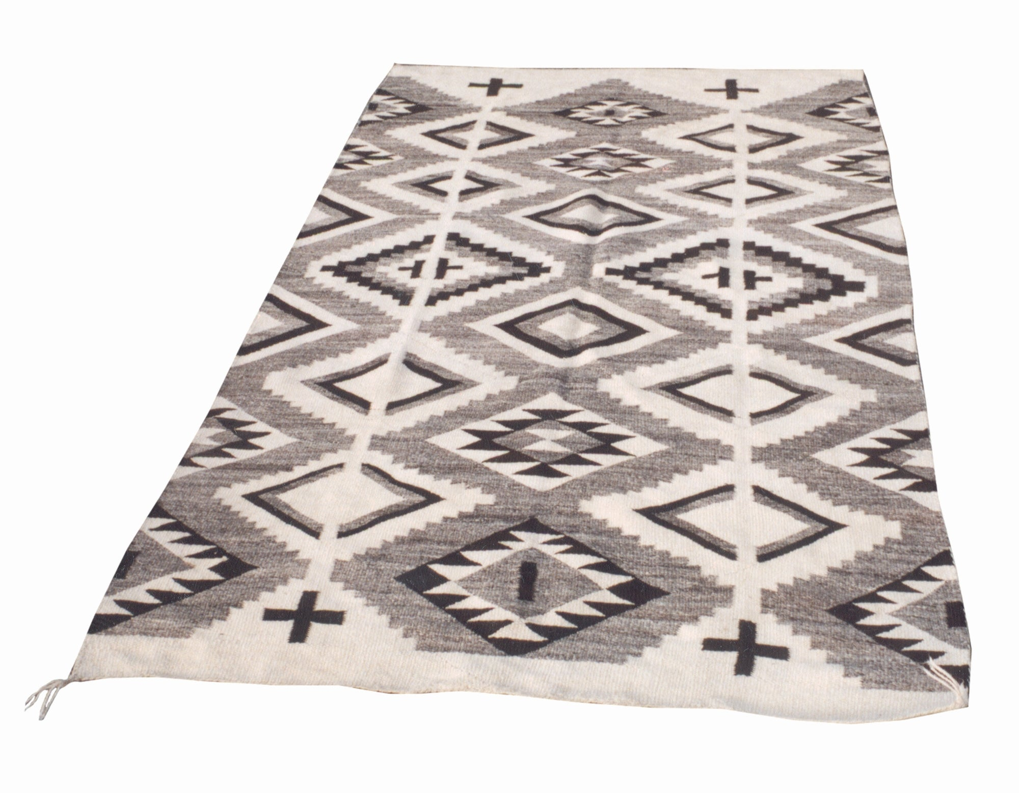 Hubbell Transitional; Natural with Crosses 6' to 8', blankets, hubbell, navajo, weavings