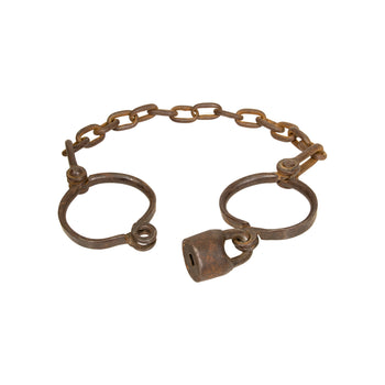 Cowboy and Western  cowboy and western: law enforcement: handcuffs, cuffs, leg irons, new item, restraints, shackles  Slave Leg Irons