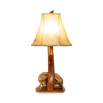 Lodge Furnishings  adirondack, antler lighting, antlers, lamps, lighting  Adirondack Style Lamp