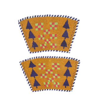 American Indian  american indian cuffs, beadwork, blackfeet, sale item  Blackfeet Pictorial Cuffs