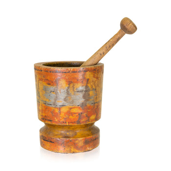 Lodge Furnishings  carving, fruitwood, mortars, pestles  Mortar and Pestle