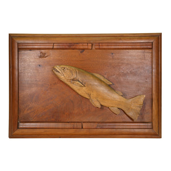 Lodge Furnishings  carvings, mayfly, trout  Trout After Mayfly