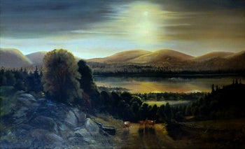 Fine Art  clyde whittier magill, oil, paintings, paintings-landscape, sale item  Pastoral Scene by Clyde Whittier Magill