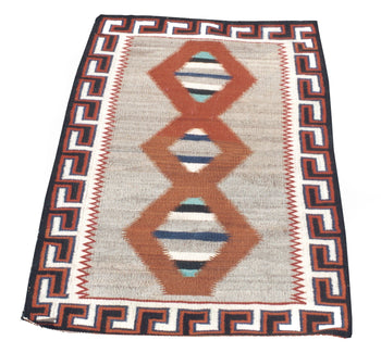 American Indian  4' to 6', double saddles, navajo, teec nos pos, weavings  Teec Nos Pos Double Saddle