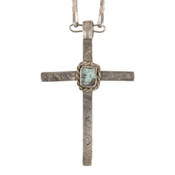 Stamped Cross Necklace