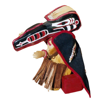 American Indian  american indian: other: other, carvings, dolls, northwest coast  Northest Doll with Thunderbird (eagle) Mask