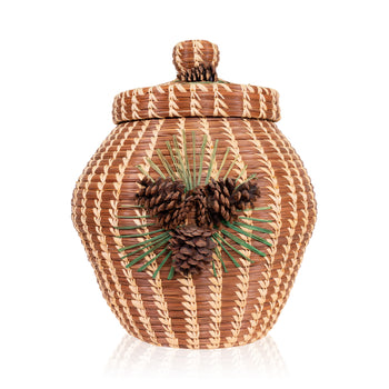 American Indian  baskets, coushatta, pine needles  Coushatta Pine Needle Basket