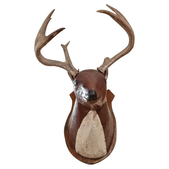 Lodge Furnishings  adirondack, antler décor, carvings, deer, den, folk art, lodge furnishings other, lodge furnishings: décor: folk item  Folk Art Whitetail