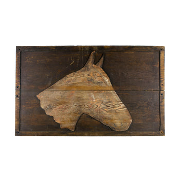 Cowboy and Western  horses, signs, stable, trade signs  Wooden Stable Sign