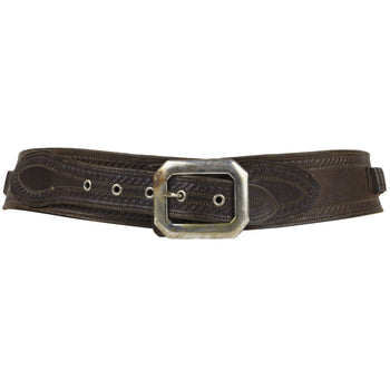 Cowboy and Western  ammo belt, antique gun leather  Vintage Decorated Ammo Belt