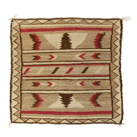 Stylized Eagles and Arrows navajo, single saddle, weavings