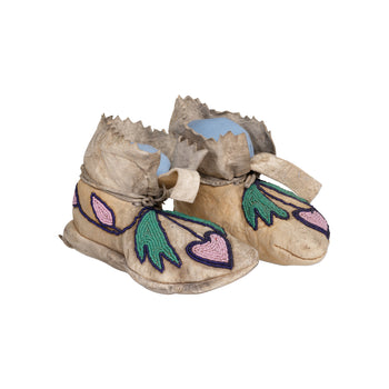 American Indian  beadwork, child's moccasins, moccasins, nez perce  Nez Perce Child's Moccasins