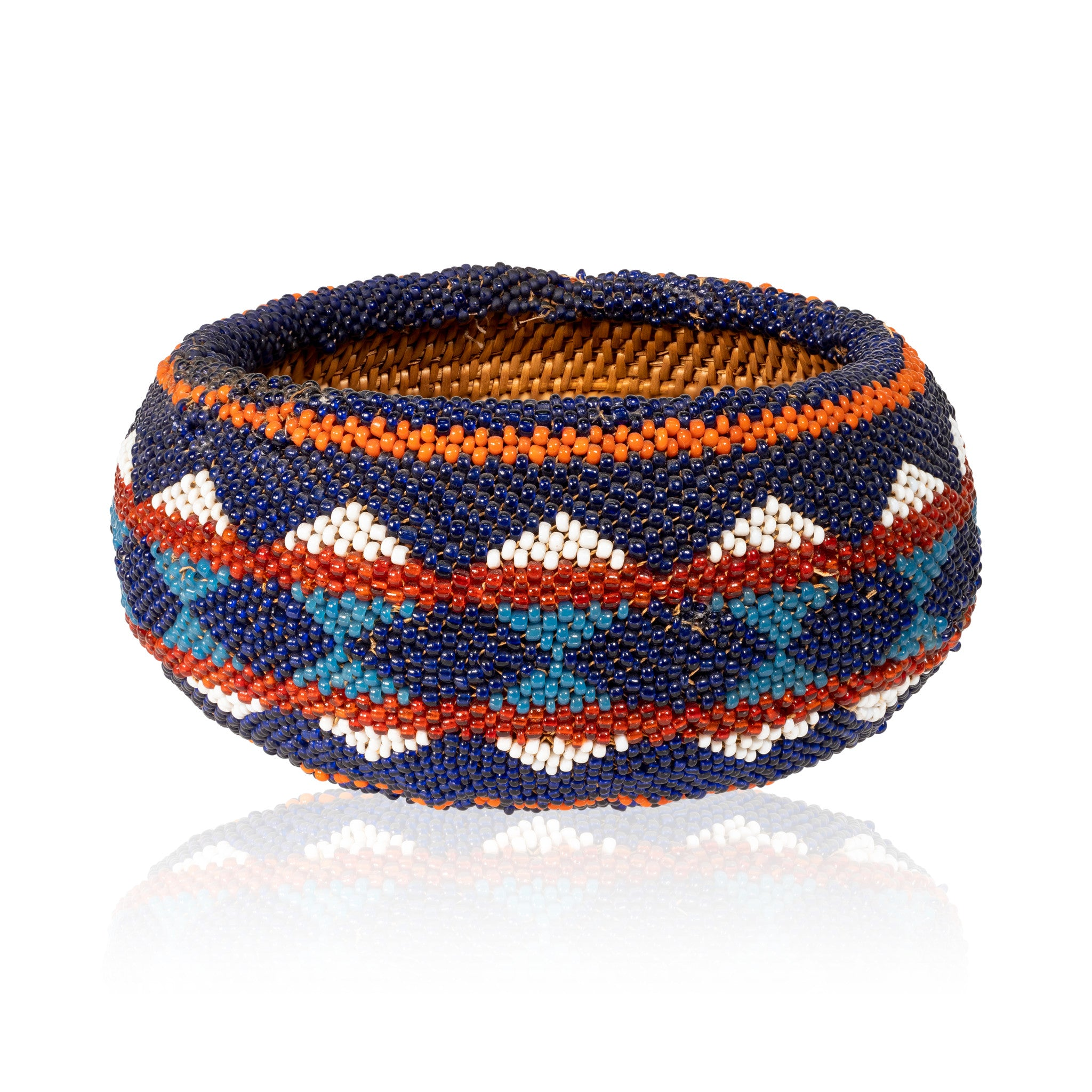Beaded Washoe Basket american indian: basketry: other, baskets, beadwork, washoe