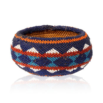 American Indian  baskets, beadwork, washoe  Beaded Washoe Basket
