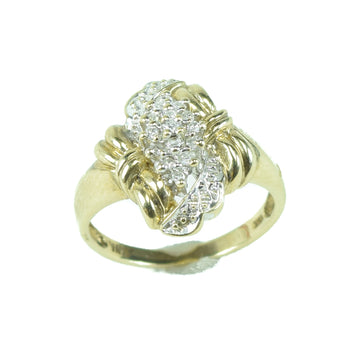 Jewelry  diamond, estate, gold, rings, sale item  10k Gold Ornate Diamond Ring