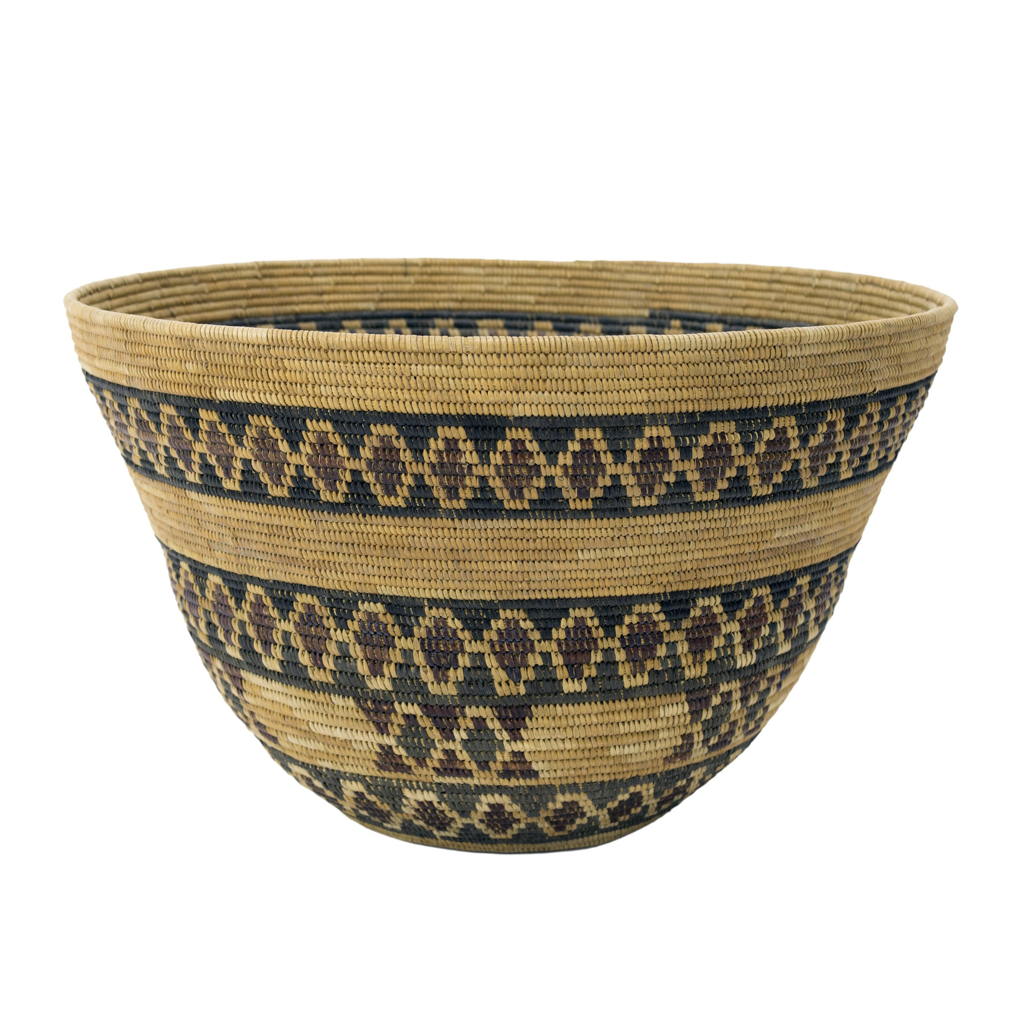 Yokut Basket With Diamond Pattern baskets, california, yokut