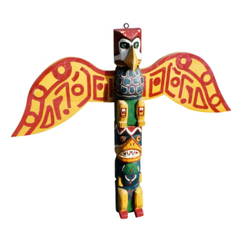 American Indian  3' to 6', carvings, lair forster, ottawa, totems  1938 Winged Totem