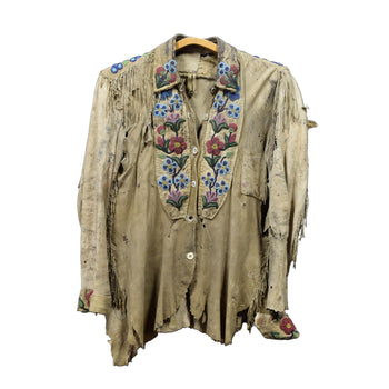 American Indian  cree, sale item, scout shirt, shirts  Cree 19th Century Well-Used Scout Shirt