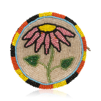 American Indian  american indian: beadwork: other bags, bags, beadwork, purses, sale item  Cree Fully Beaded Purse