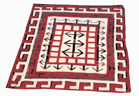 Navajo Crystal with arrows crystal, navajo, pictorials, rugs, weavings