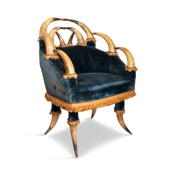 Lodge Furnishings  asntler & horn, chairs  Antique Horn Chair