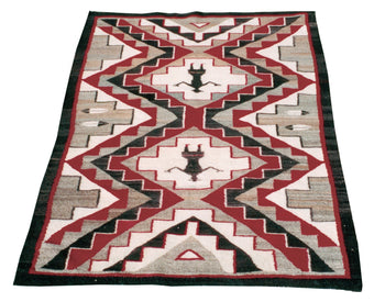 American Indian  4' to 6', navajo, pictorials, red mesas, weavings  Red Mesa Navajo with Female Figures