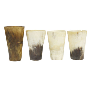 Cowboy and Western  cups, drinking, horns  Four Vintage Longhorn Drinking Cups