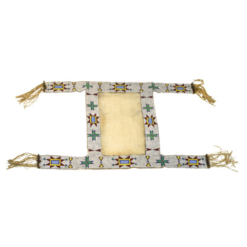 American Indian  beadwork, horse gear, plains, saddle blankets, sioux  Sioux Beaded Saddle Blanket