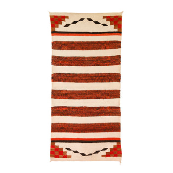 American Indian  4' to 6', double saddles, navajo, weavings  Navajo Double Saddle Blanket