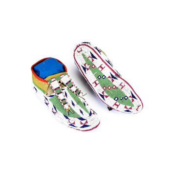 American Indian  beadwork, ceremonial, moccasins, plains, sioux  Sioux Ceremonial Moccasins