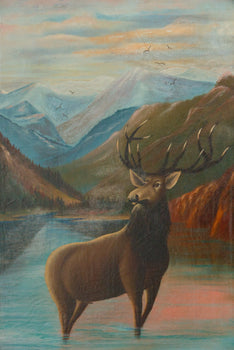 Fine Art  fine art: painting: wildlife, hanna pickel, oil, paintings, paintings-wildlife, sale item  Cabin Art by Hanna Pickel