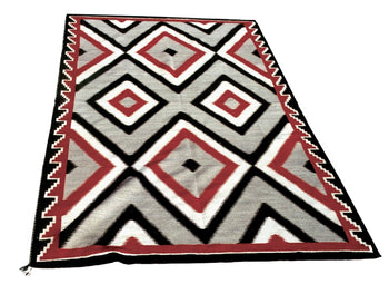 American Indian  8' +, ganados, navajo, weavings  Ganado Area Weaving