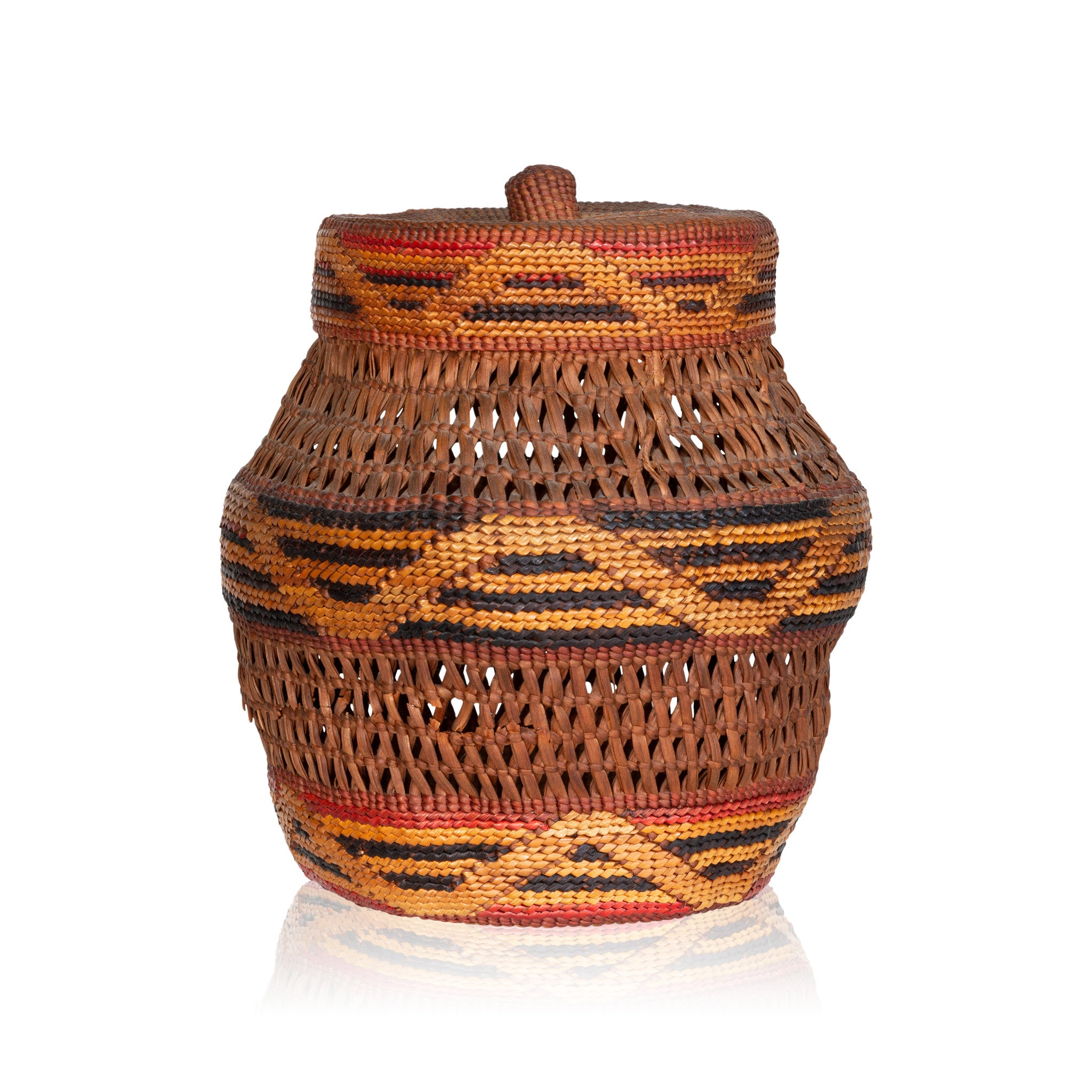 Tlingit Lidded Jar baskets, tlingit