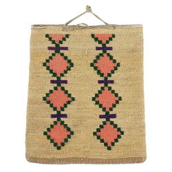 Nez Perce Corn Husk Bag with Whirling Logs