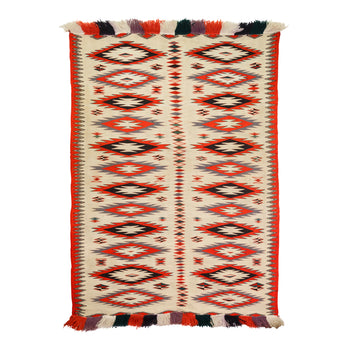 American Indian  4' to 6', germantowns, navajo, weavings  Germantown White Dazzler