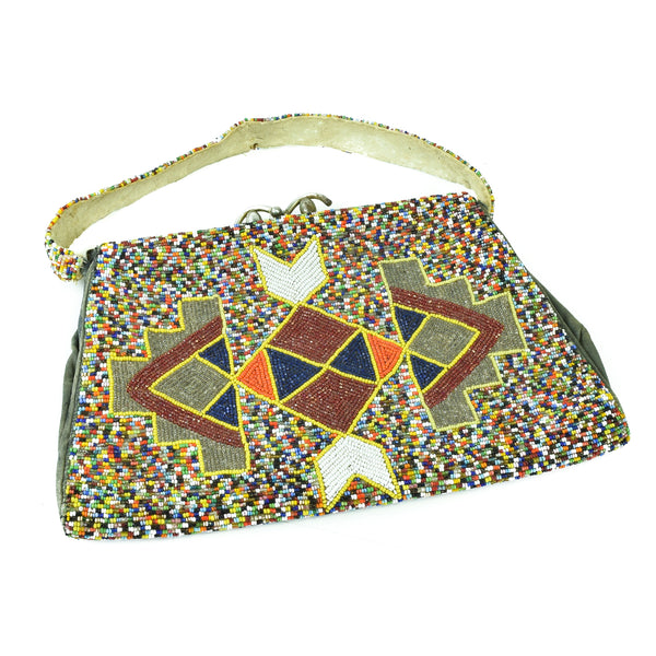 Plateau Fully Beaded Purse