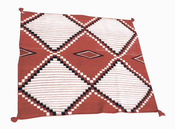 American Indian  1' to 4', blankets, navajo, southwestern, weavings  Ladies Wearing Blanket