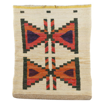 American Indian  corn husks, nez perce  Nez Perce Corn Husk Bag with Butterfly Design