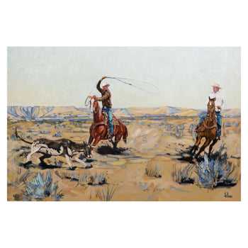 Fine Art  caa, cowboy artists of america, fred fellows, oil paintings, paintings-western  Range Doctor's by Fred Fellows