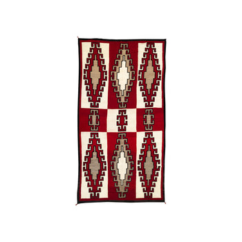 American Indian  8' +, area weavings, ganados, navajo, weavings  Nine Panel Ganado Area Weaving