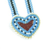 Ojibwa Beaded Heart Pendant  beadwork, heart, ojibwa, pendant, sale item