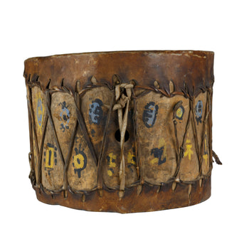 American Indian  drums, pueblo, southwest  Pueblo Indian Cottonwood Trunk Drum