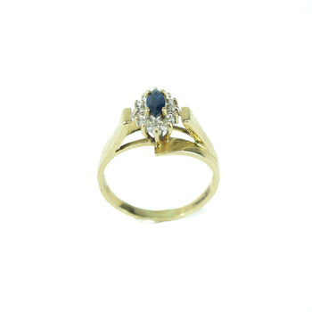 Jewelry  diamonds, estate, gold, rings, sale item, sapphire  10k Gold Sapphire Ring