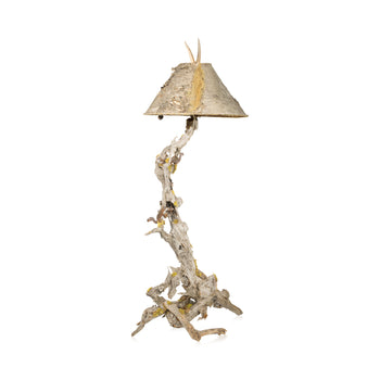 Lodge Furnishings  driftwood, lamps, lighting  Chipmunk Lamp by Paul Carrico
