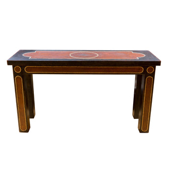 Lodge Furnishings  6118, ranchers collection, tables  Rancher's Collection Leather Entryway Table