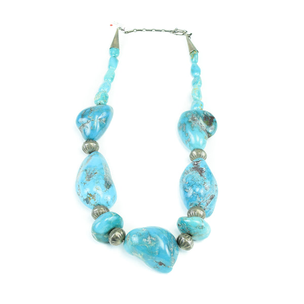 Giant Turquoise Nugget Necklace