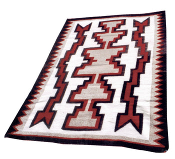 American Indian  4' to 6', navajo, rugs, storms, weavings  Navajo Storm Weaving