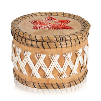 American Indian  birch bark boxes, chippewa, new item, quills, sale item  Quilled Birch Bark Box
