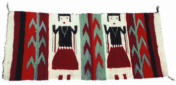 American Indian  1' to 4', navajo, weavings, yeis  Navajo Two Figure Yei